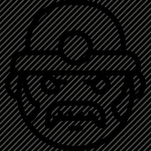 emojis, emotion, face, miner, moustache, smiley icon