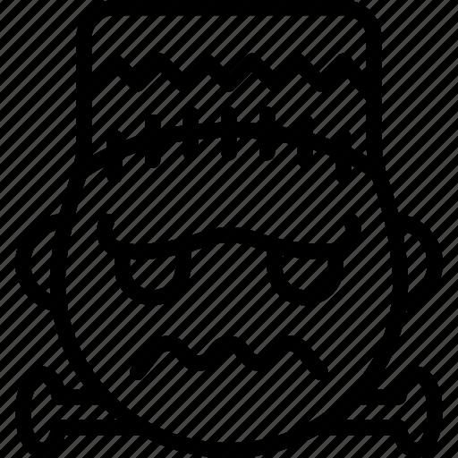 emojis, emotion, face, frankenstein, horror, smiley, zombie icon