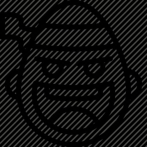 emojis, emotion, face, fu, kung, ninja, smiley icon