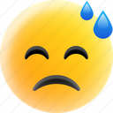 emoji, emoticon, exhausted, tired emoji, tired face