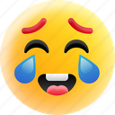 emoticons, face smiley, laughing face, laughing tears, smiley