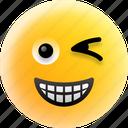 emoji, happiness, smiley, smirking, winking face