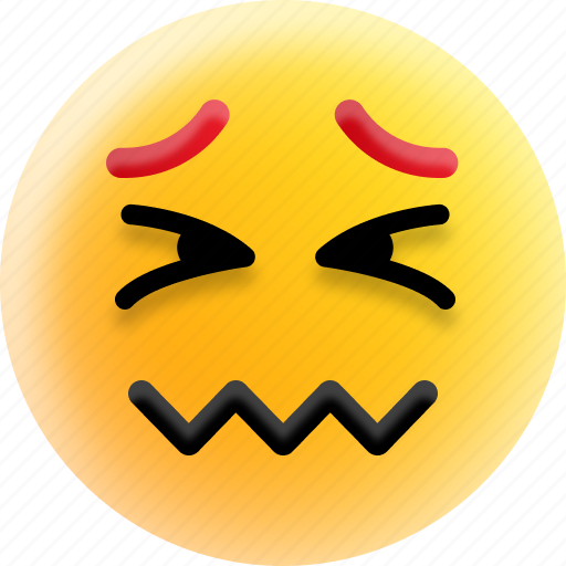 Confounded face, confused, emoji, scrunched eyes, smiley icon - Download on Iconfinder