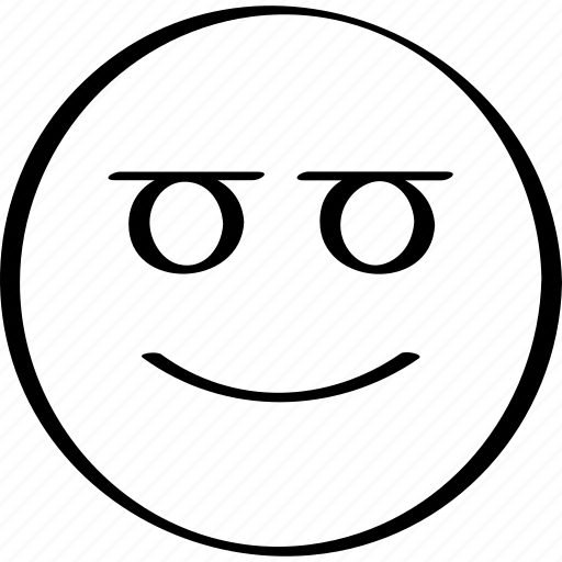 emoji, expression, face, smiling icon