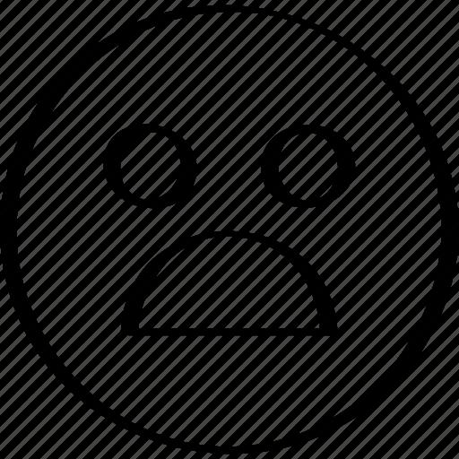 emoji, emotion, expression, shocked icon