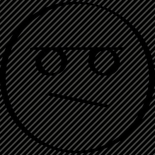 emoji, face, sad, think icon
