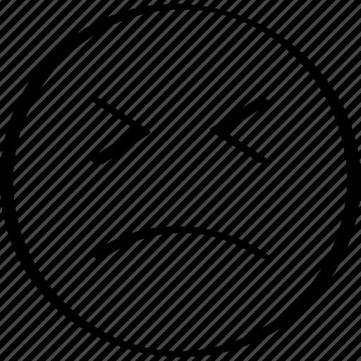 emoji, expression, face, sadness icon