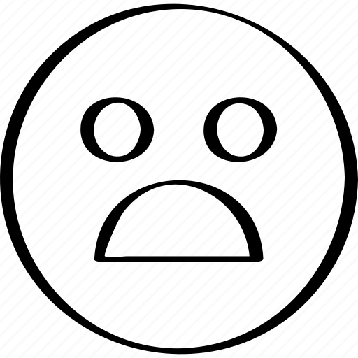 emoji, expression, face, shock icon