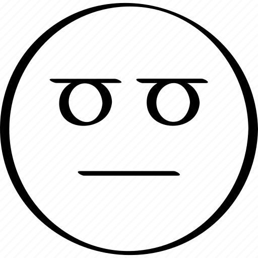 emoji, expression, face, staring icon