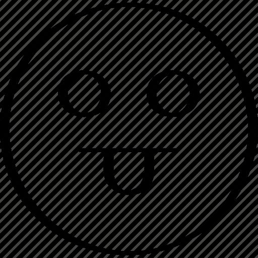 emoji, emotion, expression, tongue icon