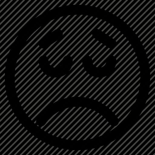 Emoticon, react, emoticons, disappointed, emoji icon - Download