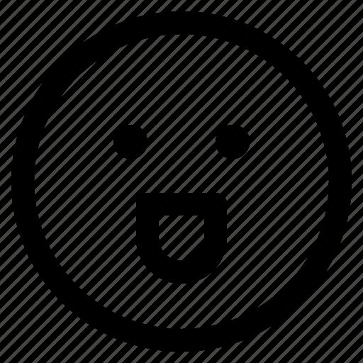 emoji, emoticon, emoticons, happy, react icon