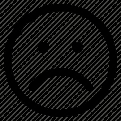 emoticon, emoticons, react, sad icon