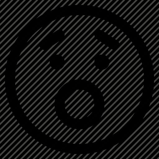 emoji, emoticon, emoticons, react, surprised icon