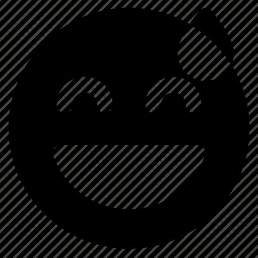 Embarrassed, emoticon, emoticons, react, emoji icon