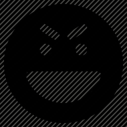emoji, emoticon, emoticons, evil, react icon