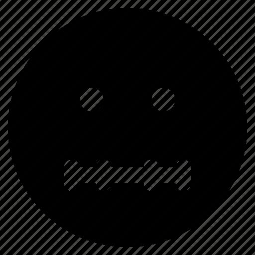 emoji, emoticon, emoticons, quiet, react icon