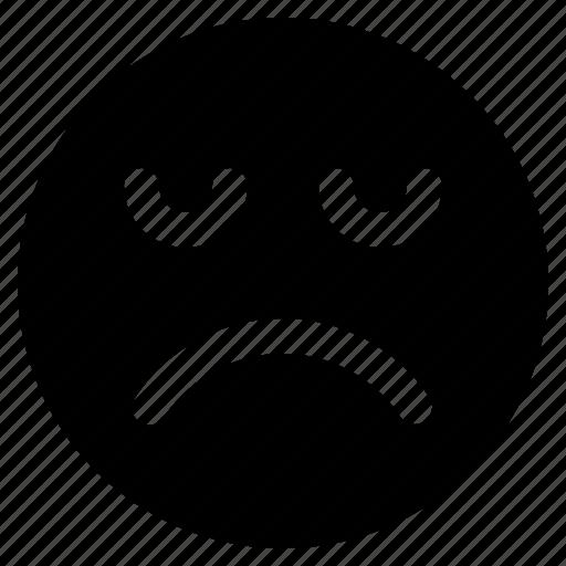 emoji, emoticon, emoticons, react, sad icon