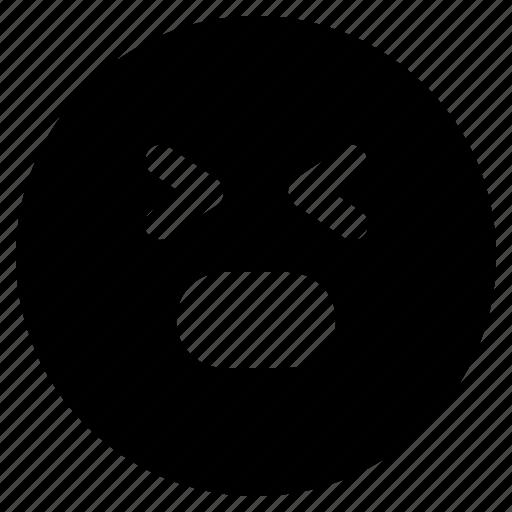 emoji, emoticon, emoticons, react, stress icon