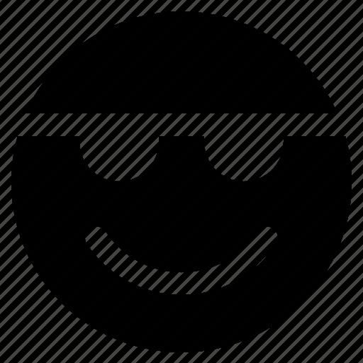 emoji, emoticon, emoticons, react, sunglasses icon