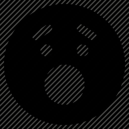 Emoticon, react, emoticons, surprised, emoji icon