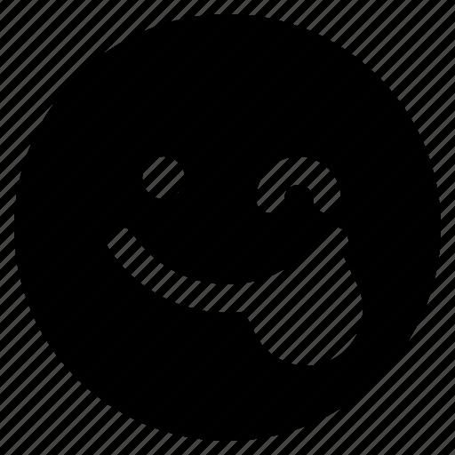 Emoticon, react, emoticons, emoji, wink icon