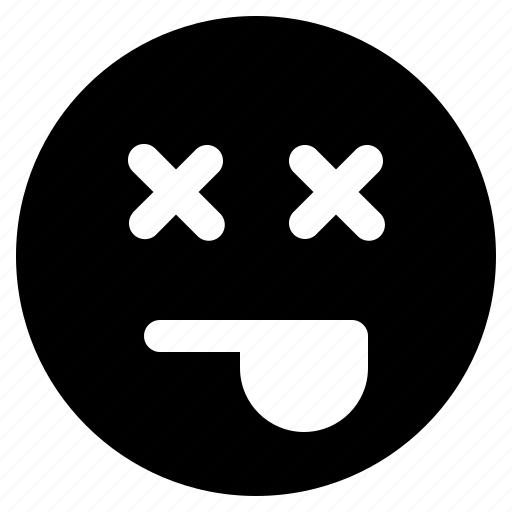 dead, emoji, emoticon, emoticons, react icon