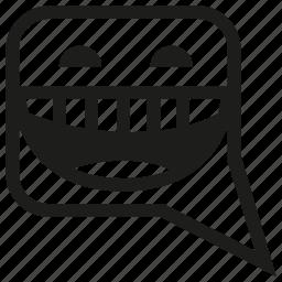 emoticon, emotion, face, funny, laugh, mood, smile icon