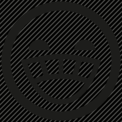 emoticon, emotion, face, laugh, mood icon