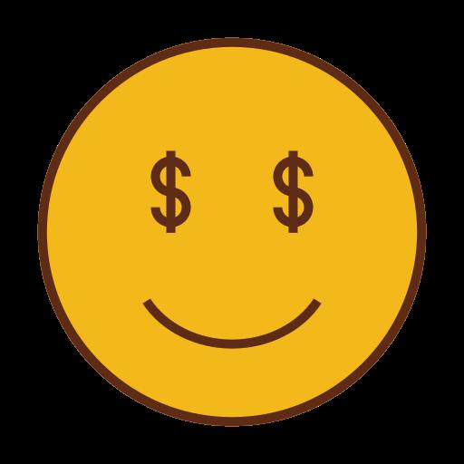 dollar, emoji, emoticon, face, money, smiley icon