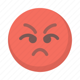 angry, emoji, face, mad, pissed, red, upset icon