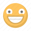 bliss, emoji, emoticon, face, grin, happy, smile icon