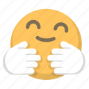 comfort, emoji, hug, love, warmth icon