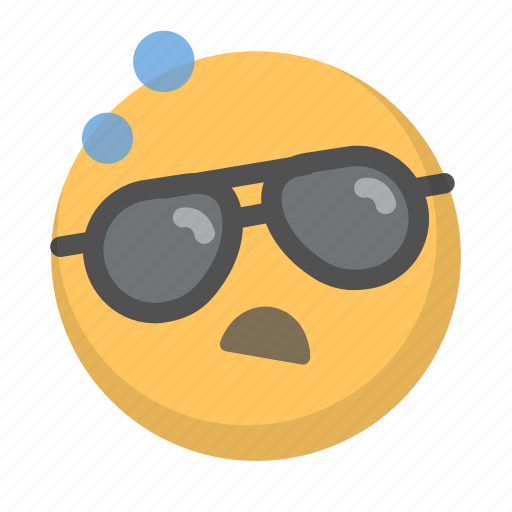 drunk, emoji, face, hungover, lit, sunglasses, wasted icon