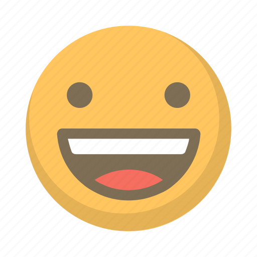cheer, grin, joy, large, laugh, smile icon