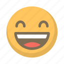 cheer, emoji, face, laugh, laughing, laughter, smile icon