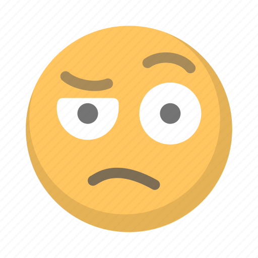 confused, emoji, eyebrow, face, raised icon