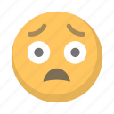 agony, emoji, face, sad, scared, terrified icon