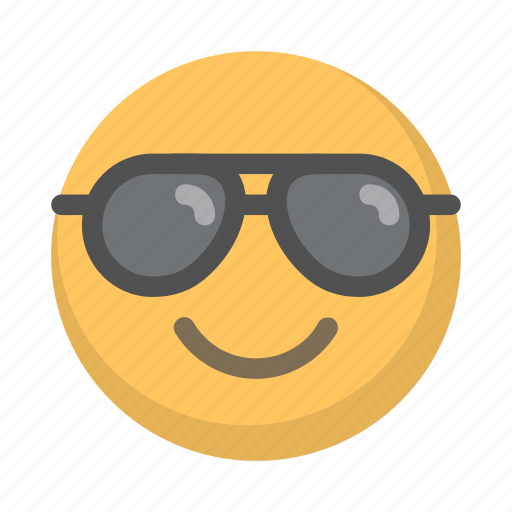chill cool emoji face glasses shades icon