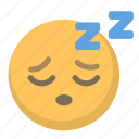 emoji, face, sleep, sleeping, snore, tired, zzz icon