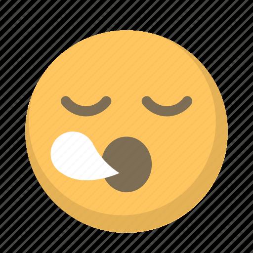 emoji, face, sleepy, snore, tired, yawn icon