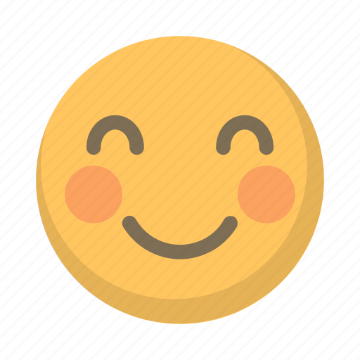 bliss, closed, content, emoji, eyes, happy, smile icon
