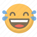 emoji, emoticon, face, joy, laughter, smile, tears icon