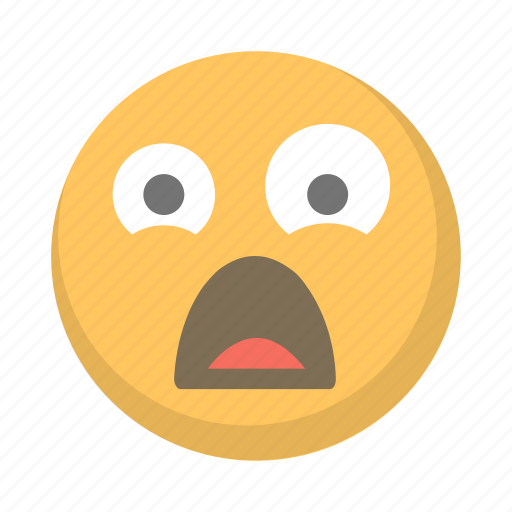 emoji, face, ghost, scared, scary, suprised, terrified icon