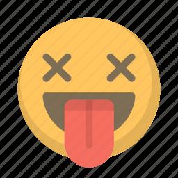 drunk, emoji, eyes, face, lit, wasted, x icon