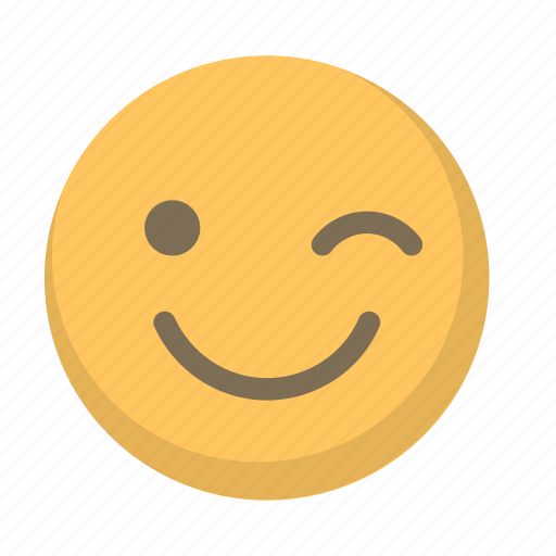 cute, emoji, face, flirt, wink icon