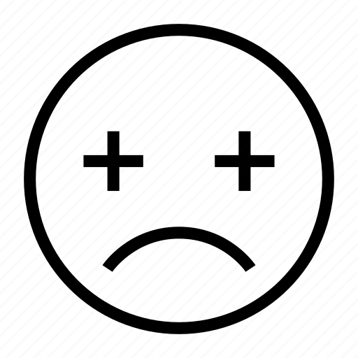 blur, emoji, emoticon, exhausted, fatigue, tired icon