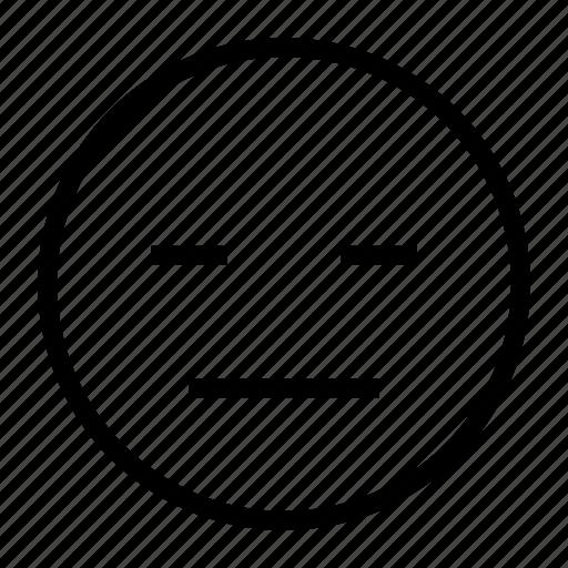 close, emoticon, eye, sleepy, thinking, tired icon