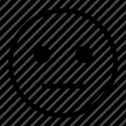 emoji, emoticon, face, neutral, normal icon