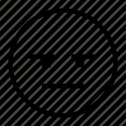emoji, emoticon, skeptic, skeptical, thinking, unsure icon